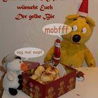 Der gelbe Bär wünscht einen schönen 2.Advent