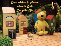 Der gelbe Bär wünscht einen svhönen 3. Advent