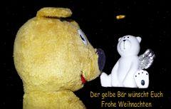 Der gelbe Bär wünscht Euch Frohe Weihnachten