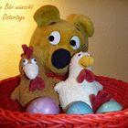 Der gelbe Bär wünscht Frohe Ostertage