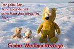 Der gelbe Bär wünscht Frohe Weihnachtstage !