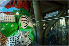 Der Gepard im Haupt Bahnhof