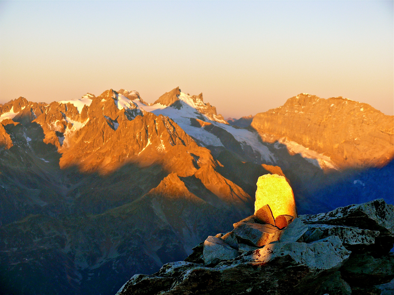 Der Gipfel der kl. Windgällen ,Sonnenaufgang