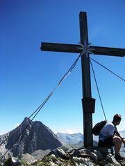 Der Gipfel des Seehorns im Hintergrund der Gr. Hundstod