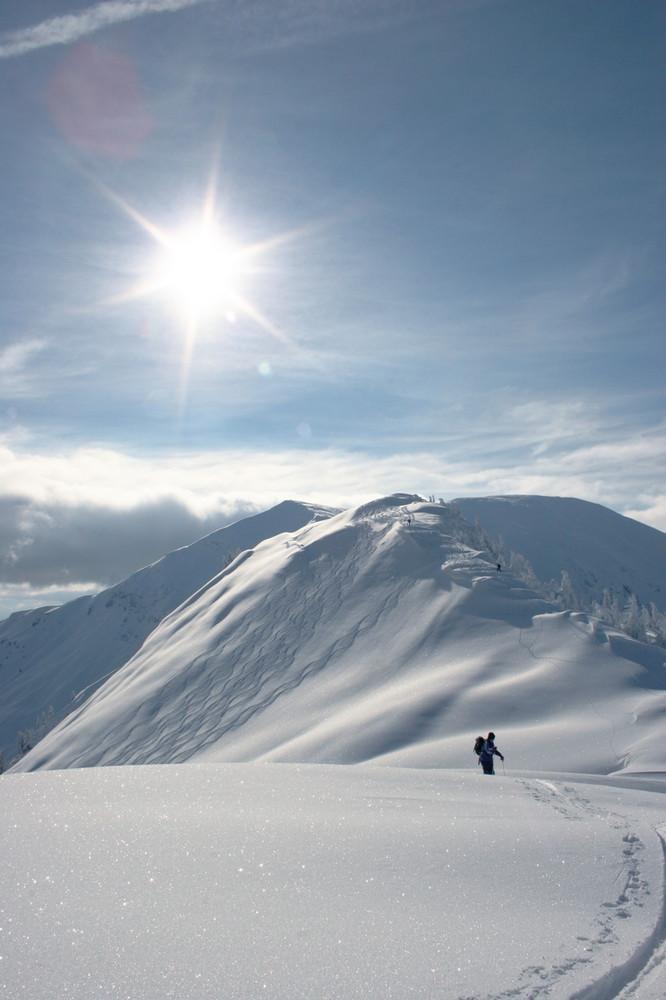 Der Gipfel im Blick