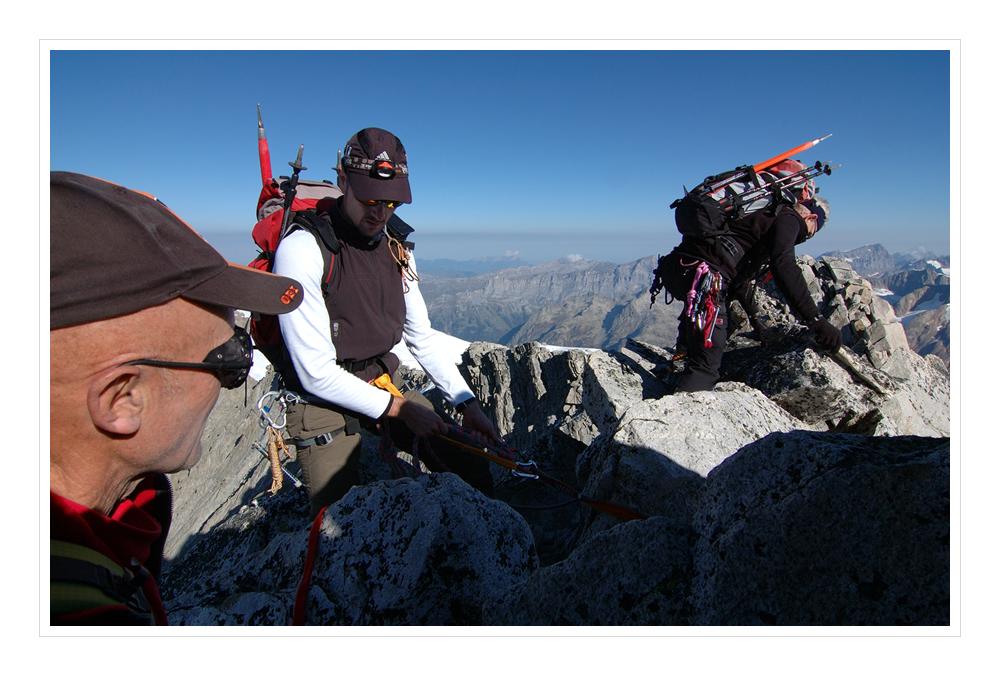Der Gipfel ist erreicht - Diechterhorn 3389 Meter