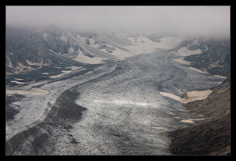 Der Gletscher Pasterze am Fuß des Großglockners