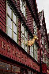 Der goldene Hirsch in Bergen...