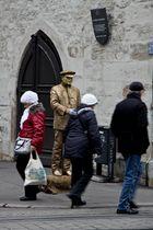 Der goldene Mann in Erfurt