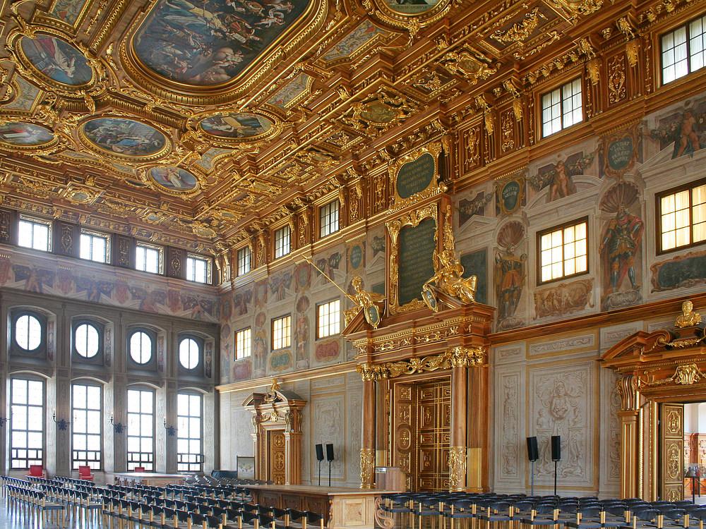 Der goldene saal im augsburger rathaus foto bild deutschland europe bayern bilder auf - Mobel um augsburg ...