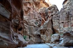 Der große Siq in Petra