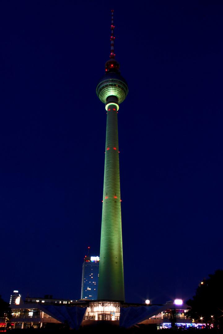 Der grüne Fernsehturm Festival of Lights 2012