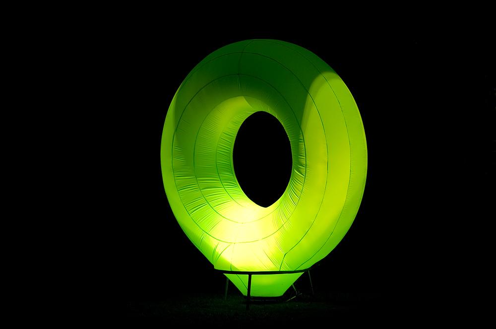 Der grüne Licht-Donut....
