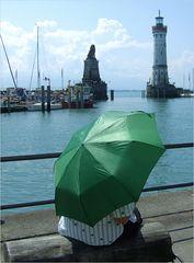 Der grüne Schirm...