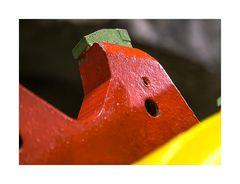 Der grüne Zahn - Detail einer Tunnelbohrmaschine