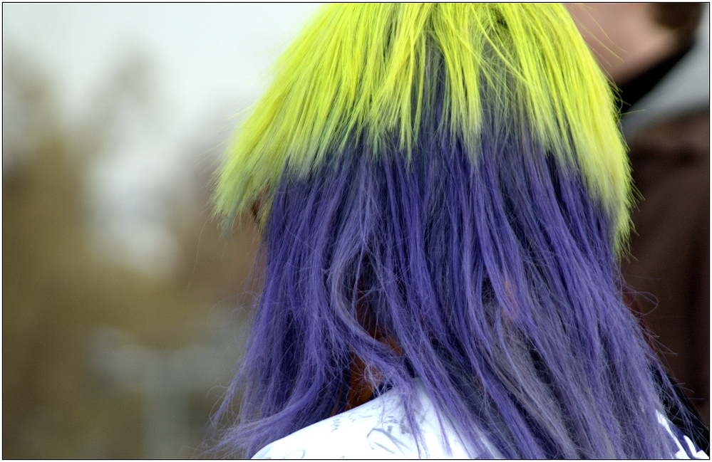 ... der Haarmodetrend geht zur Zweifarbigkeit ...