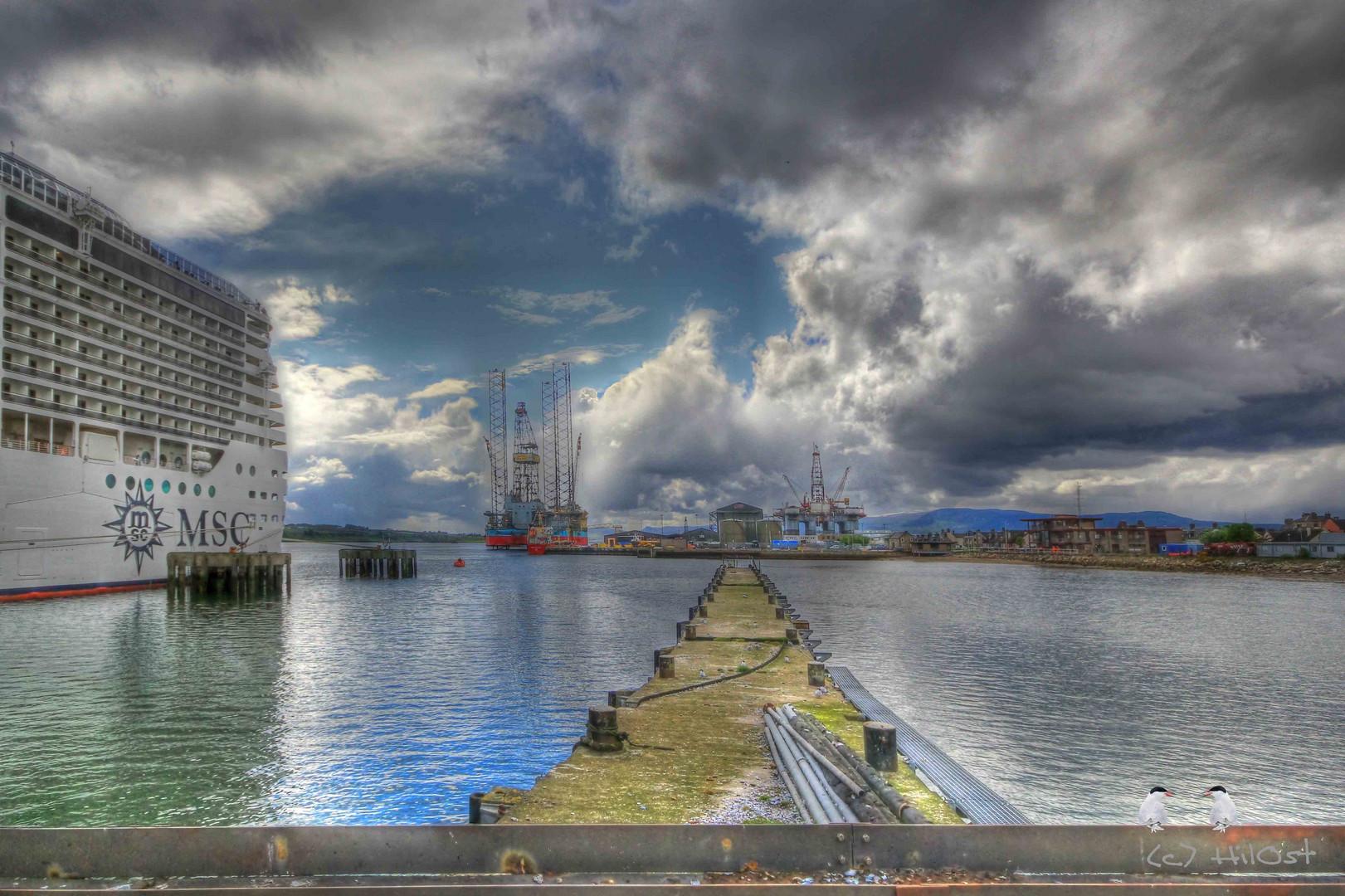 Der Hafen von Invergordon
