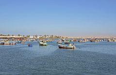 Der Hafen von Paracas im Süden Perus