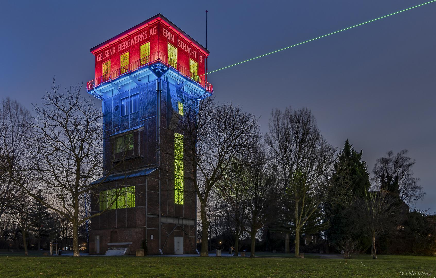 Der Hammerkopfturm , Zeche Erin, Schacht 3