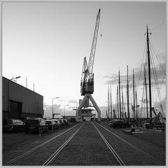 Der Harlinger Hafenkran