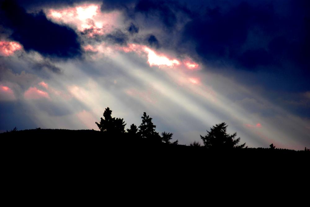 Der Harz bei Sonnenuntergang