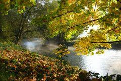 """Der Herbst ist da / """"Morgennebel auf der Wupper"""""""