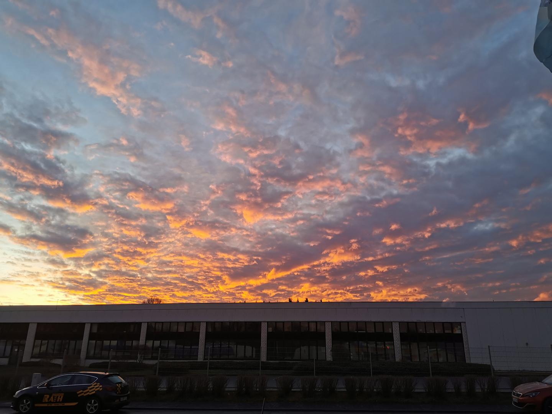 Der Himmel am morgen