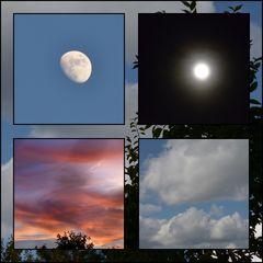 der Himmel bei Tag und Nacht
