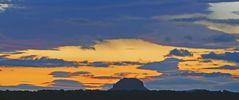Der Himmel beim Lilienstein in der Sächsischen Schweiz wurde immer farbenfroher...