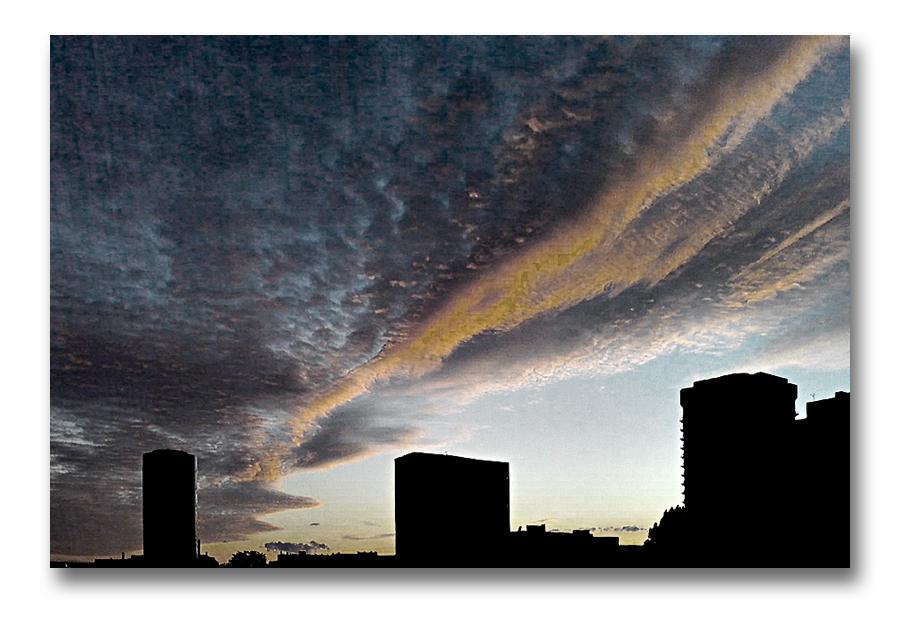 Der Himmel über Frankfurt am Sonntag Abend (28.08.2011)