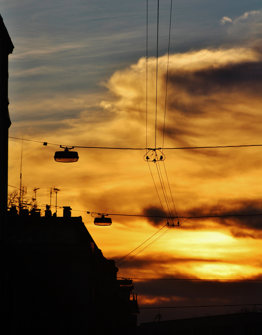 der Himmel über Stuttgart zwischen den Jahren