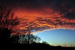 Der Himmel war am brennen