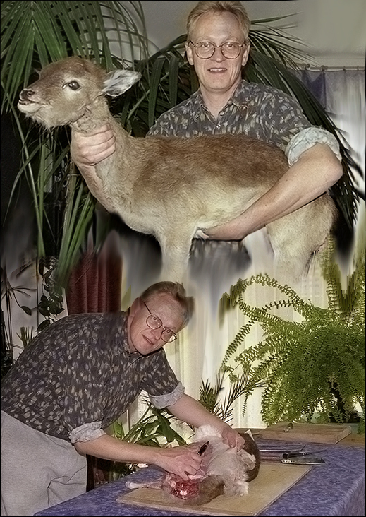 Der Hirsch in der Hand ...