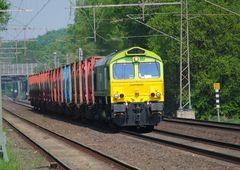 """Der """"Hoyer-Zug"""" mit Captrain PB 05 ( 6609)"""