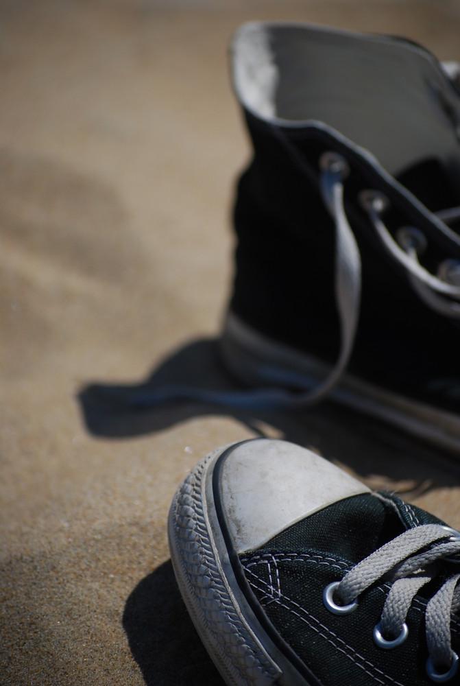 """Der """"Ich glaube da sind 3 Tonnen Sand drin"""" Schuh"""