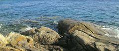 """der ideale Badeplatz: """"rock #7"""" am Kapari auf Mykonos"""