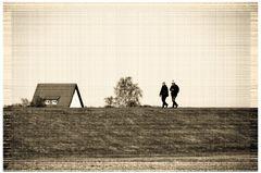 Der Inseldeich von Hiddensee