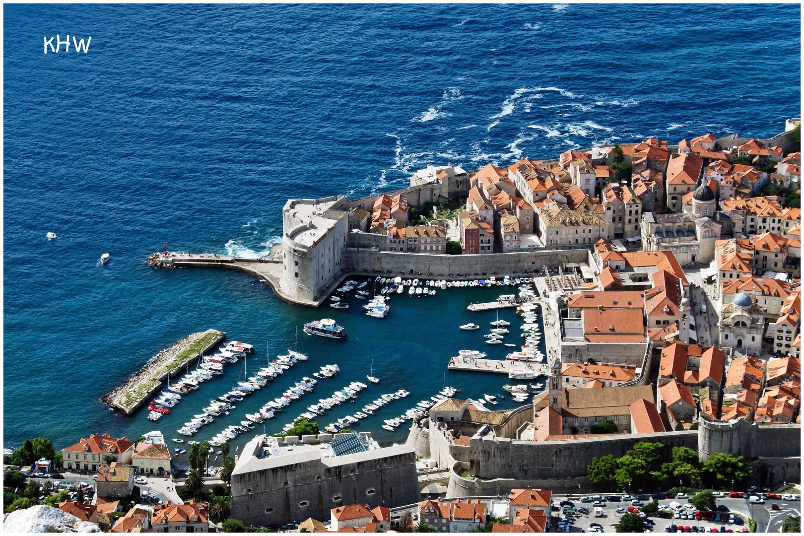 Der Jachthafen von Dubrovnik