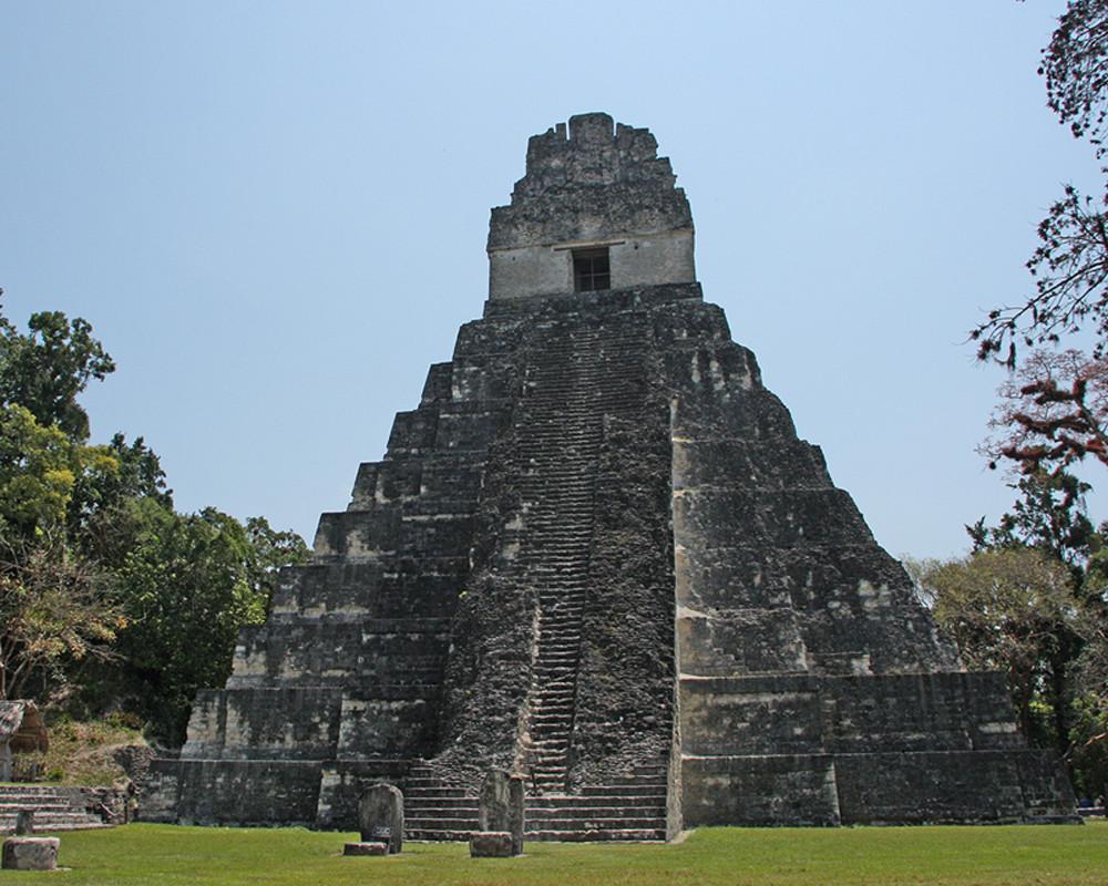 Der Jaguartempel in Tikal