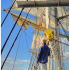~ Der Junge u. das Meer ~ Törn mit der Brigg Mercedes am 28.9.2013 auf der Weser