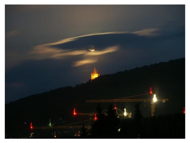 Der Kaiser und die Kräne im Mondschein