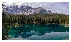 Der Karersee in Südtirol