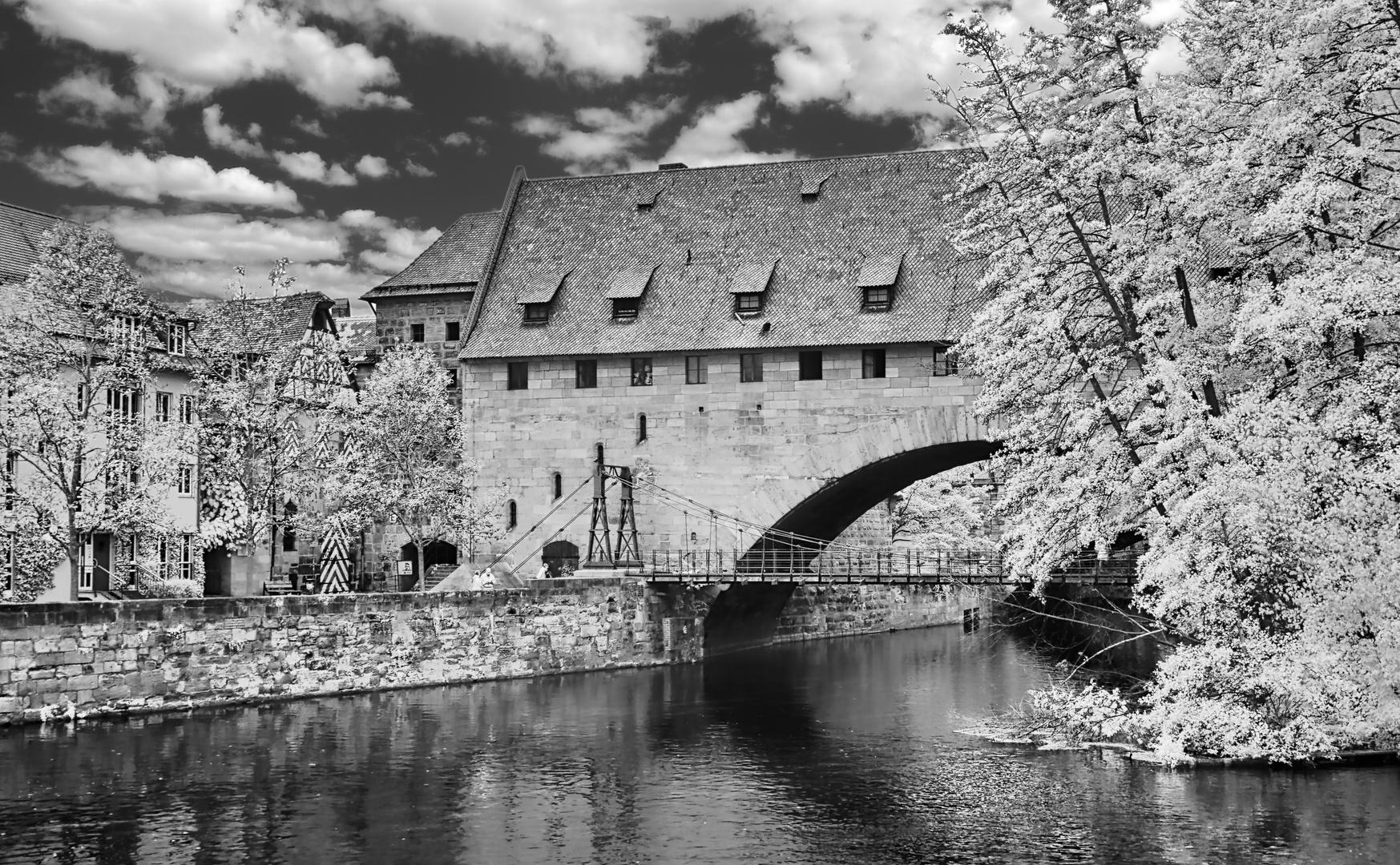Der Kettensteg in Nürnberg