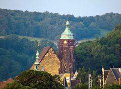 Der Kirchturm in der Abendsonne
