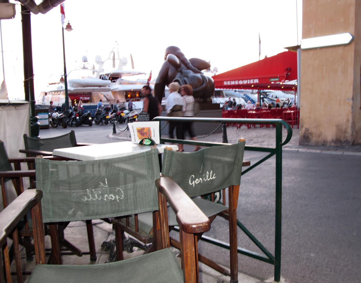 Der kleine Rest vom ehemals legendären Café Gorille