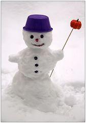Der kleine Schneemann...
