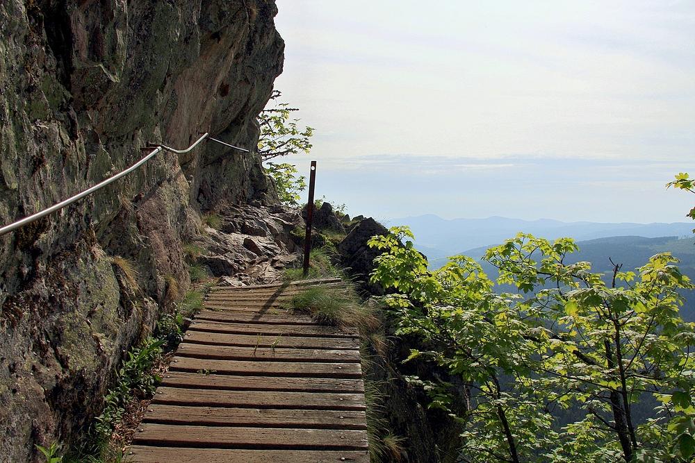Klettersteig Vogesen : Der klettersteig sentier des roches ist einer gefährlichsten und