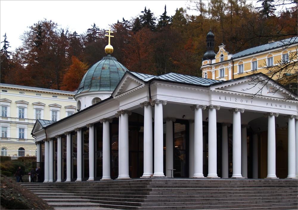 Der Kreuzbrunnen in Marienbad