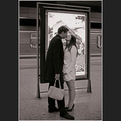 Der kurze Kuss zum langen Abschied