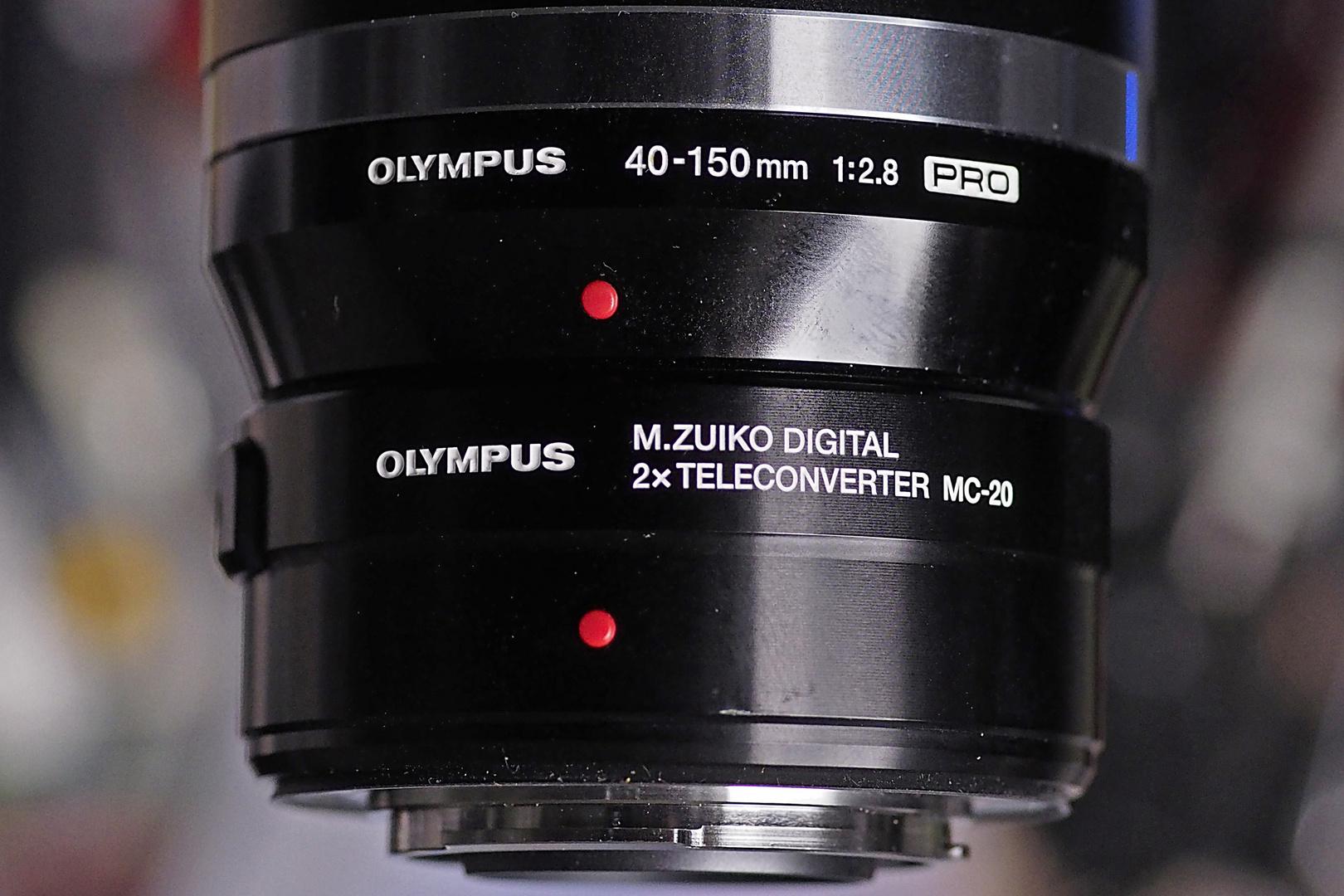 Der langersehnte Neue: Olympus MC-20 2x Telekonverter